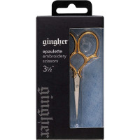 Gingher 3 1/2in Goldhandle Epaulette Embroidery Scissors  - Product Image
