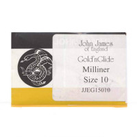 John James Gold'N Glide Milliners/Straw Needles Size 10 - Product Image