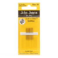 John James Gold'N GlideBetween Quilting Needles Size 10  - Product Image