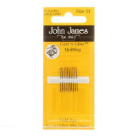 John James Gold'N GlideBetween Quilting Needles Size 11  - Product Image