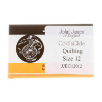 John James Gold'N GlideBetween Quilting Needles Size 12  - Product Image