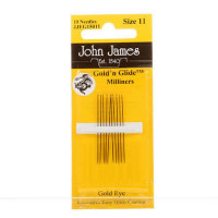 John James Gold'N Glide Milliners/Straw Needles Size 11 - Product Image