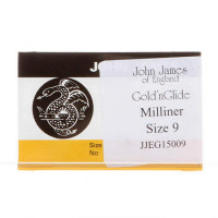 John James Gold'N Glide Milliners/Straw Needles Size 9 - Product Image