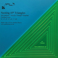 Quilters HavenNesting Triangles 45? - Product Image