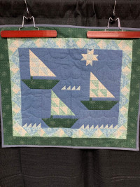 Sailboats Wall HangingMade in the 1990's - Product Image